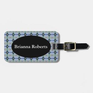 HAMbWG Luggage Tag w/ leather strap -  Periwinkle