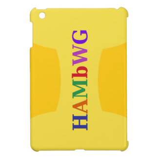 HAMbWG - Mini Case - Yellow w Multi-color Logo iPad Mini Case