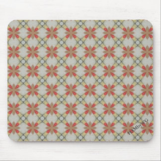 HAMbWG - Mouse Pad - Off White/Peach Mosaic