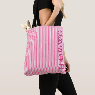 HAMbWG - Over the Shoulder Bag - Pink Stripes