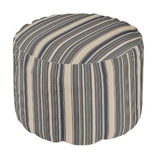 HAMbWG Pouf Chair -  Creme/Grey Stripe