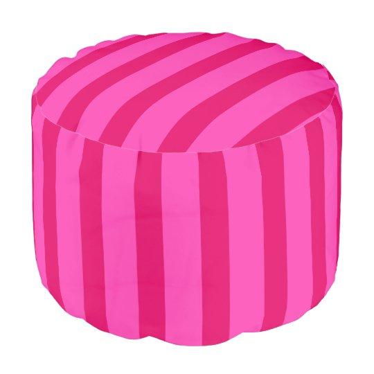 HAMbWG Pouf Chair -  Pink & Pink Stripes