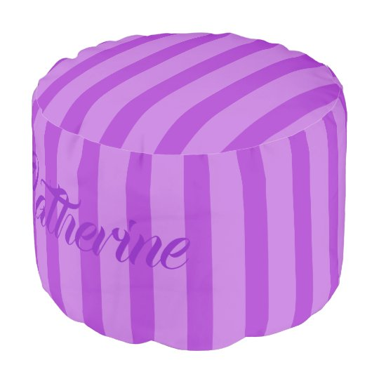 HAMbWG Pouf Chair -  Purple Lilac Stripes