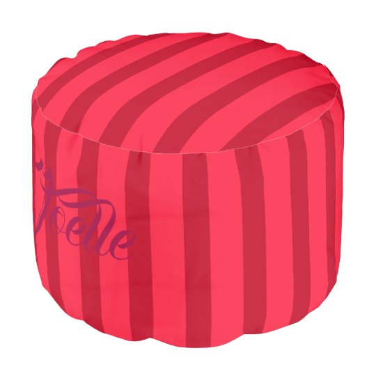HAMbWG Pouf Chair -  Red/Red Stripes