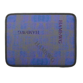 HAMbWG - Rickshaw Macbook Sleeve - Blue Distressed Sleeves For MacBooks