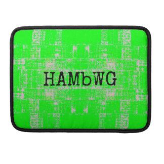 HAMbWG - Rickshaw Macbook Sleeve - Lime Green