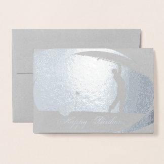 HAMbWG - Silver Foil Card - Golfer 2