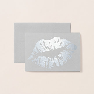 HAMbWG - Silver Foil Card - Lips