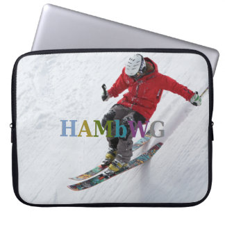 HAMbWG Skier - Neoprene Laptop Sleeve - Skier