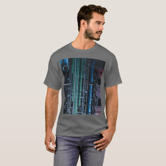 HAMbWG - T-Shirt - Architecture Colored Pipes Lg