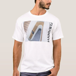 HAMbWG - T-Shirt - Architecture White Ornate Lg