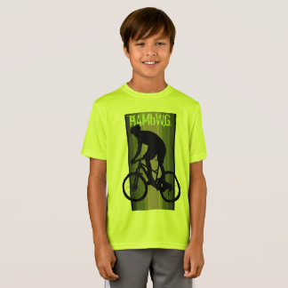 HAMbWG -  T Shirt -  Lemon-Lime -  Bike Rider