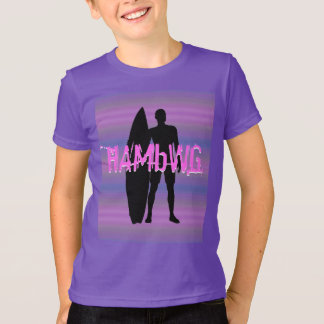 HAMbWG -  T Shirt -  Purple Gradients Surfer