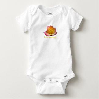 HAMbWG -  T-Shirts - Yellow Peach Rose