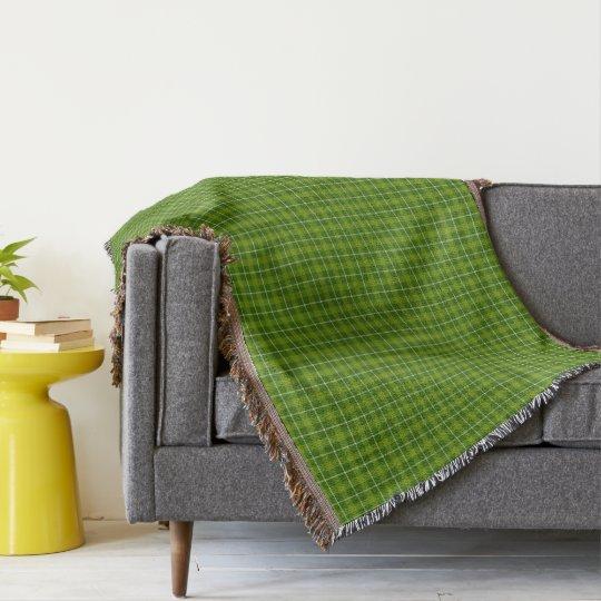 HAMbWG Throw Blanket - L. Green Plaid