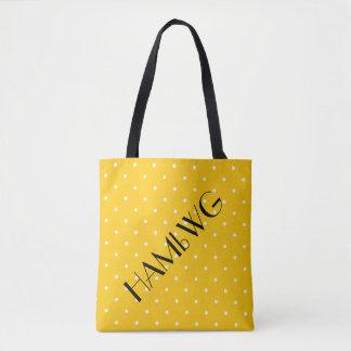 HAMbWG - Tote Bag - Citrus Yellow w Polka Dot