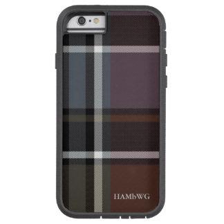 HAMbWG  Tough Xtreme Phone Case -  Soft Rust Plaid