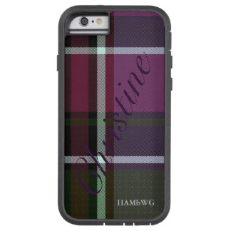 HAMbWG  Tough Xtreme Phone Case - Teal Plum Plaid