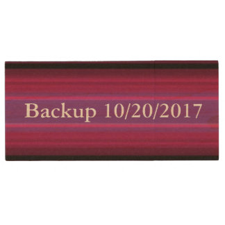 HAMbWG - USB Flash Drive - Burgundy Stripe