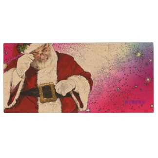 HAMbWG - USB Flash -  Santa Claus Wood USB Flash Drive