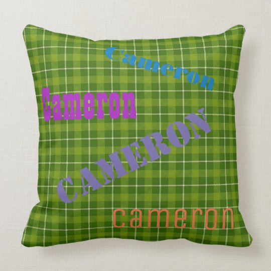 HAMbWG Vanity Pillow - Add your name - Green Plaid