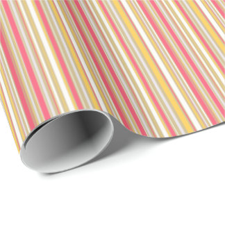 HAMbWG Wrapping Paper - Tangerine/Rose/Crm Stripes