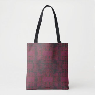 HAMbWG - Zipper Tote - Cherry/Charcoal