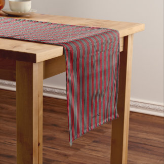 "HAMbyWG 14"" X 72"" Table Runner - Red Grey Bone"