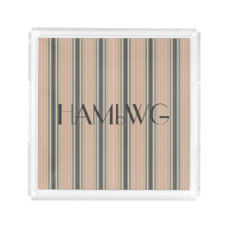 HAMbyWG - Acrylic Tray - Pale Beige Stripes