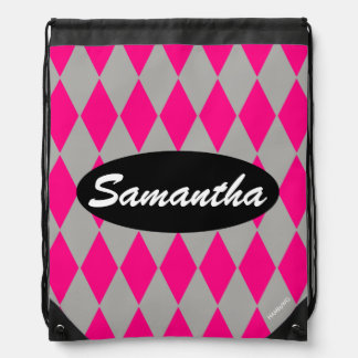 HAMbyWG - Any Color w Pink Argyle Drawstring Bag