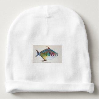 HAMbyWG - Baby Beanie - Fish 1 w Multi Logo 2