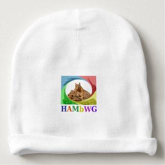 HAMbyWG Baby  Beanie - jeweled Heart HAMbWG Logo Baby Beanie