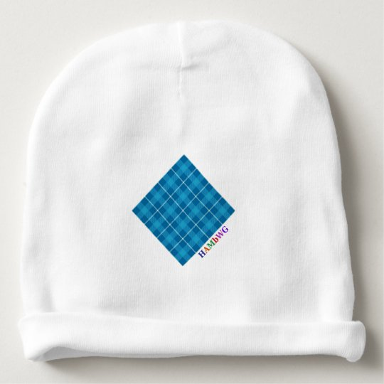 HAMbyWG - Baby Beanie - L. Blue Plaid