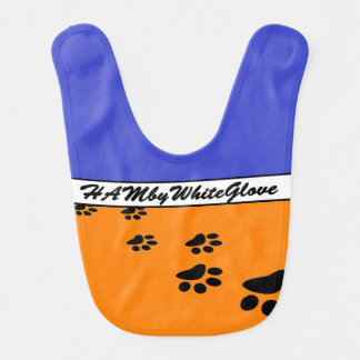 HAMbyWG Baby  Bib - Blue & Red w Logo Prints