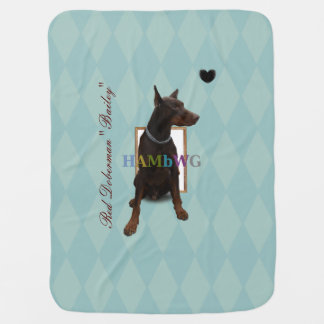 HAMbyWG - Baby Blanket - Red Doberman Bailey