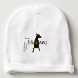 HAMbyWG -Baby Cotton Beanie - Red Doberman Bailey Baby Beanie