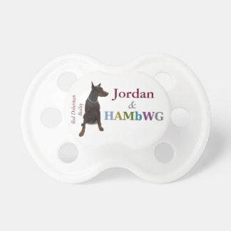 HAMbyWG Baby  Pacifier -Doberman Bailey