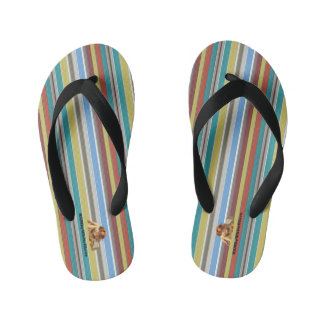 HAMbyWG - Boys Flip-Flops Surf Mix Stripes Kid's Thongs