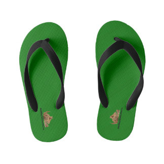 HAMbyWG - Boys Flip- Green fine stripes Kid's Thongs