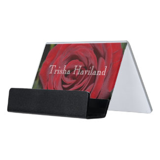 HAMbyWG Business Card Holder - Classic Red Rose