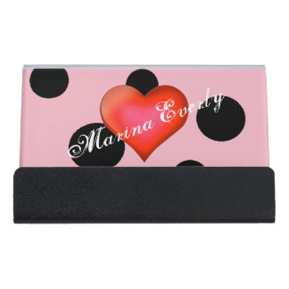 HAMbyWG - Business Card Holder - Polka Dots w Red