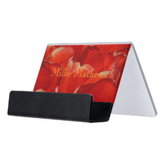 HAMbyWG Business Card Holder - Red Tulips