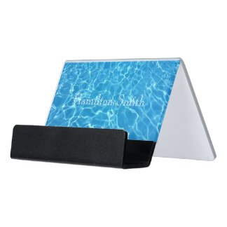 HAMbyWG Business Card Holder - Refreshing Water Desk Business Card Holder