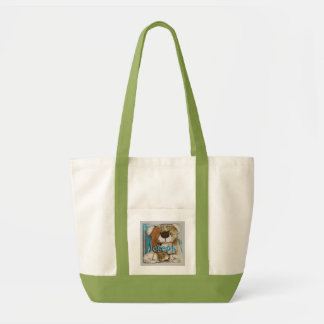 HAMbyWG - Canvas Tote Bag - Teddy Bear  w Name