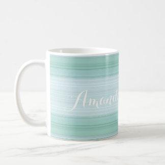 HAMbyWG - Coffee Mug - Aqua Gradient w Name