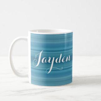 HAMbyWG - Coffee Mug - Aquamarine Gradient w Name