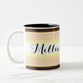 HAMbyWG - Coffee Mug - Beige/Black Gradient w Name
