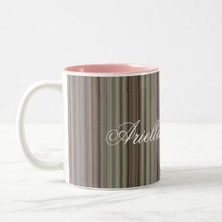 HAMbyWG - Coffee Mug - Mauve Stripes