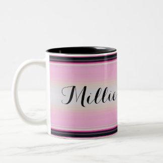 HAMbyWG - Coffee Mug - Pink/Black Gradient w Name