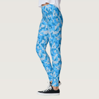 HAMbyWG - Compression Leggings - Blue Camouflage